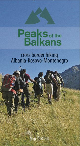 Peaks of the Balkans, Prokletje Wanderkarte 1:60.000