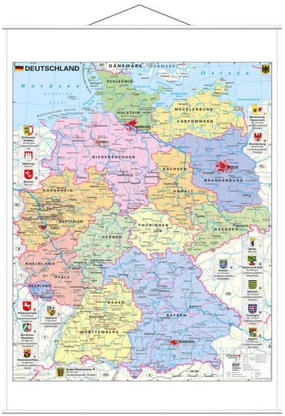 Deutschland politisch Poster mit Metallleisten vom Stiefel Verlag 67x91 cm