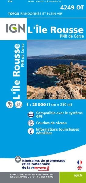 IGN 4249 OT L'Île Rousse, Korsika Wanderkarte 1:25.000