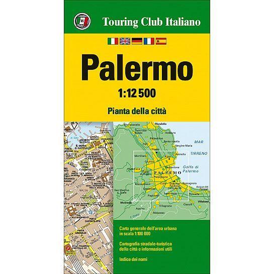 TCI Palermo, Palerme Stadtplan (Touring Club Italiano) 1:12.500 wasser- und reißfest