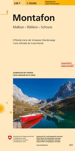 238 T Montafon Wanderkarte 1:50.000 - Swisstopo