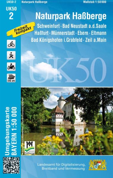 UK50-2 Naturpark Haßberge Rad- und Wanderkarte 1:50.000 - Umgebungskarte Bayern