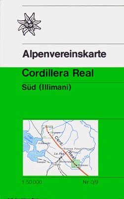 Alpenvereinskarte 0/9 Cordillera Real Süd, 1:50.000