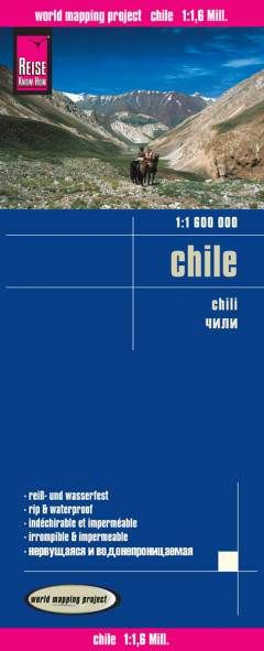 Chile Landkarte 1:1.600.000, Reise Know-How