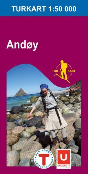 Andoy / Andøy Wanderkarte 1:50.000, Norwegen, Turkart 2724 von Nordeca