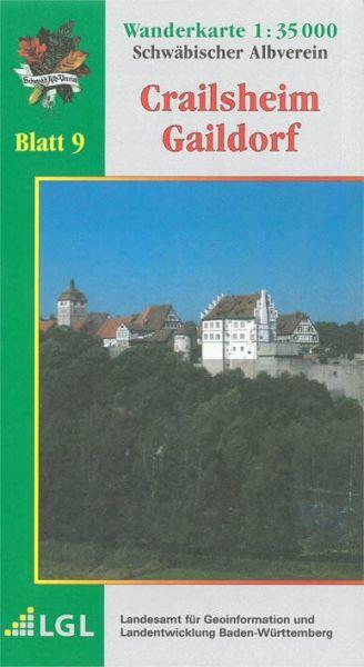 Crailsheim - Gaildorf Wanderkarte 1:35.000 Schwäbischer Albverein