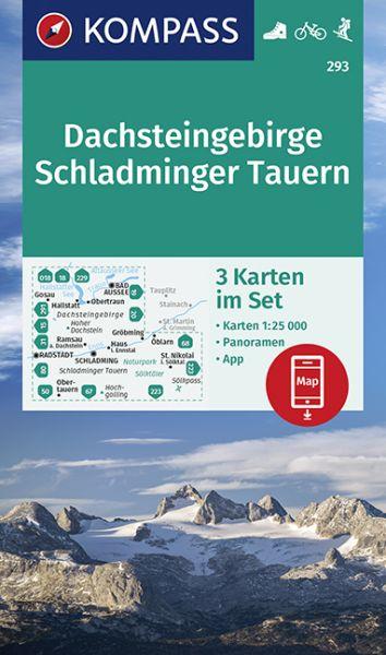 Kompass Karten Set 293, Dachsteingruppe, Schladminger Tauern 1:25.000