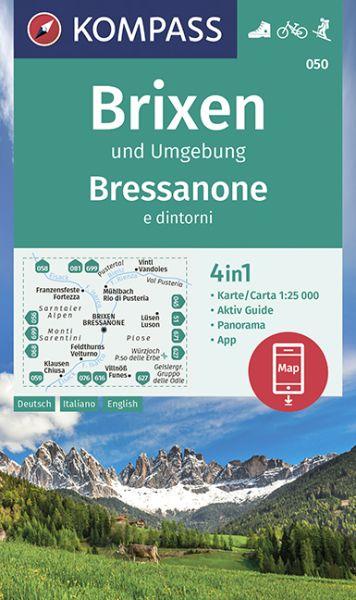 Kompass Karte 050, Brixen und Umgebung 1:25.000, Wandern, Rad fahren