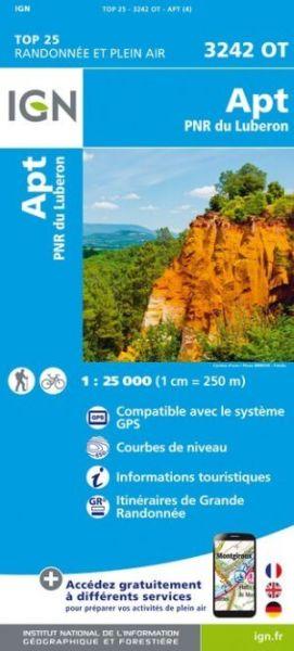 IGN 3242 OT Apt / PNR Luberon, Frankreich Wanderkarte 1:25.000