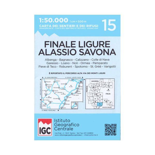 IGC 15 - Wanderkarte für Albenga - Alassio - Savona 1:50.000