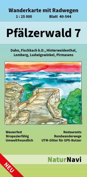 Pfälzerwald Südwest Bl. 7 in 1:25.000 Wanderkarte mit Radwegen – NaturNavi Bl. 40-544