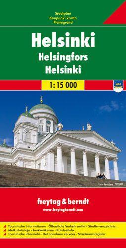 Helsinki, Stadtplan 1:15.000, Freytag und Berndt