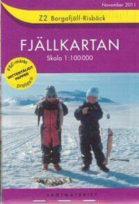 Fjällkartan Z2 Schweden Trekking- und Wintersportkarte 1:100.000