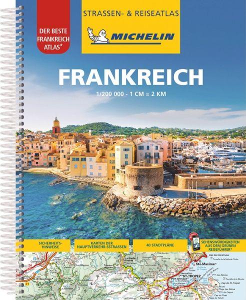 Frankreich Straßenatlas, 1:200.000, Michelin