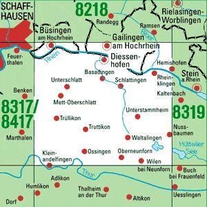 8318 GAILINGEN topographische Karte 1:25.000 Baden-Württemberg, TK25