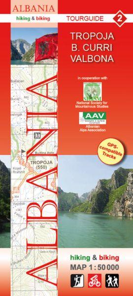 2 Tropoja - B. Curri - Valbona: Albanien Wander- und Radwanderkarte 1:50.000