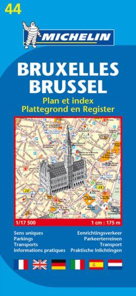 Michelin 44 Brüssel, Bruxelles; Brussel Stadtplan 1:22.000
