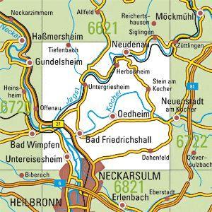 6721 BAD FRIEDRICHSHALL topographische Karte 1:25.000 Baden-Württemberg, TK25
