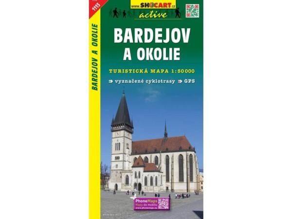 Bardejov (Bartfeld) und Umgebung Wanderkarte 1:50.000 - SHOCart 1113