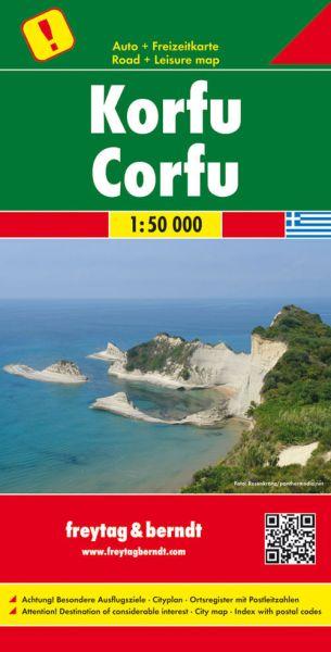 Korfu, Landkarte 1:50.000, Freytag und Berndt