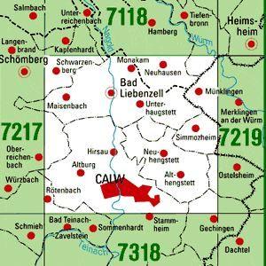 7218 CALW topographische Karte 1:25.000 Baden-Württemberg, TK25