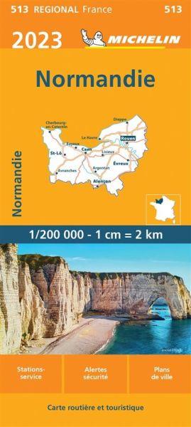 Michelin regional 513 Normandie Straßenkarte 2020 1:200.000