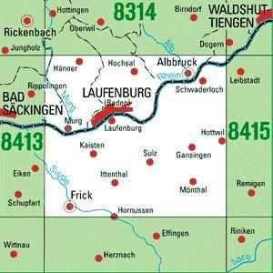 8414 LAUFENBURG topographische Karte 1:25.000 Baden-Württemberg, TK25