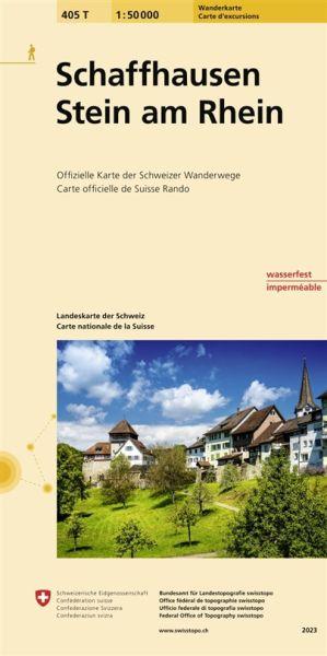 405 T Schaffhausen / Stein am Rhein Wanderkarte 1:50.000 - Swisstopo