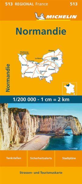 Michelin regional 513 Normandie Straßenkarte 1:200.000