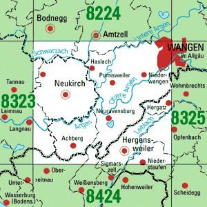 8324 WANGEN I.ALLG. WEST topographische Karte 1:25.000 Baden-Württemberg, TK25