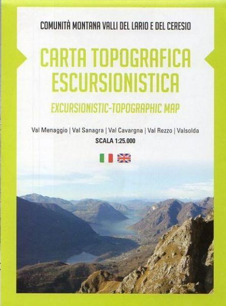 Wanderkarte für Comunità Montana Valli del Lario e del Ceresio in der Lombardei im Maßstab 1:25.000