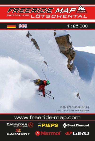 Freeride Map Lötschental, Skitourenkarte 1:25.000