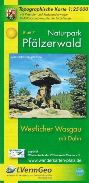 Naturpark Pfälzerwald NP7: westl. Wasgau mit Dahn Wanderkarte 1:25.000