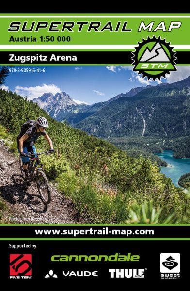 Supertrail Map Zugspitz Arena, Mountainbike-Karte, 1:50.000, Wasser- und reißfest (STM)