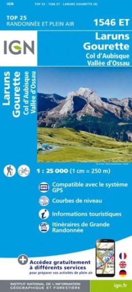 IGN 1546 ET Laruns / Gourette / Col d'Aubisque / Vallée d'Ossau, Frankreich Wanderkarte 1:25.000