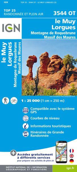 IGN 3544 OT Le Muy, Lorgues, Roquebrune, Frankreich Wanderkarte 1:25.000
