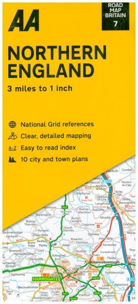 AA Straßenkarte Blatt 7, Nord England 1:200.000