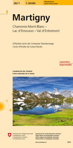282 T Martigny Wanderkarte 1:50.000 - Swisstopo