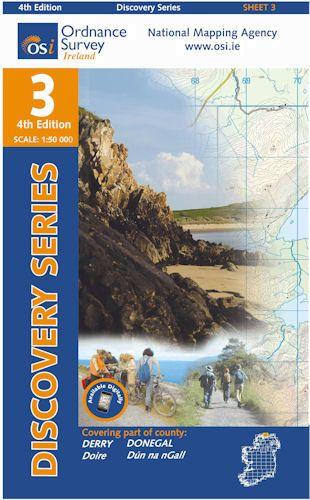 OSI 3 Donegal (NE), Derry Wanderkarte 1:50.000 - Ordnance Survey Ireland