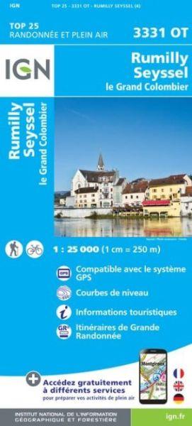 IGN 3331 OT Rumilly / Seyssel / le grand Colombier, Frankreich Wanderkarte 1:25.000
