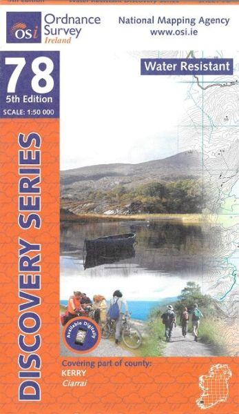 OSI 78 Kerry Wanderkarte 1:50.000 - Ordnance Survey Ireland, wasserfest