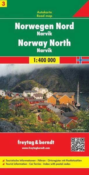 Norwegen Nord - Narvik, Straßenkarte 1:400.000, Freytag und Berndt