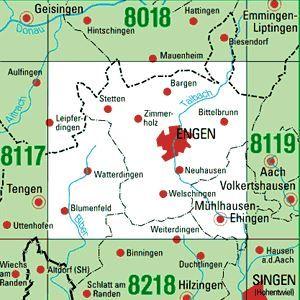 8118 ENGEN topographische Karte 1:25.000 Baden-Württemberg, TK25