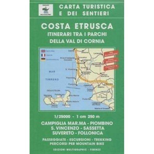 Edition Multigraphic 528, Costa Etrusca Wanderkarte; 1:25.000