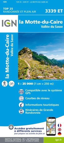 IGN 3339 ET La-Motte-du-Caire, Frankreich Wanderkarte 1:25.000