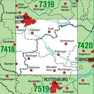 7419 HERRENBERG topographische Karte 1:25.000 Baden-Württemberg, TK25