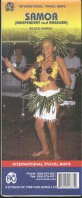 Samoa Landkarte in verschiedenen Maßstäben, ITM