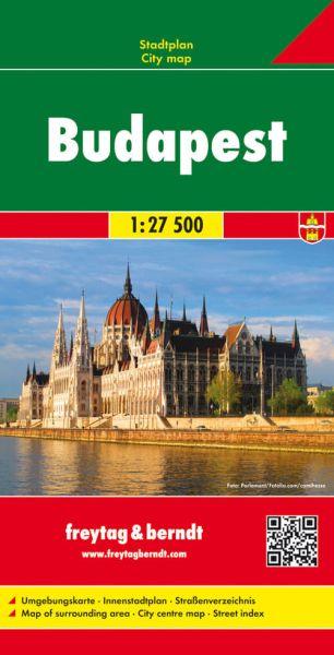 Budapest, Stadtplan 1:27.500, Freytag und Berndt