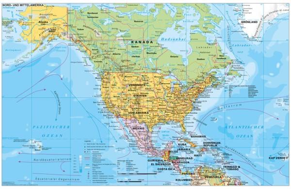 Nordamerika politisch großes Poster Stiefel Verlag 137x89 cm