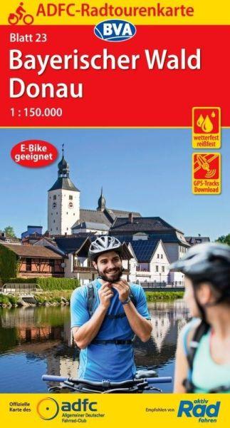 ADFC Radtourenkarte 23, Bayerischer Wald - Donau Radwanderkarte 1:150.000